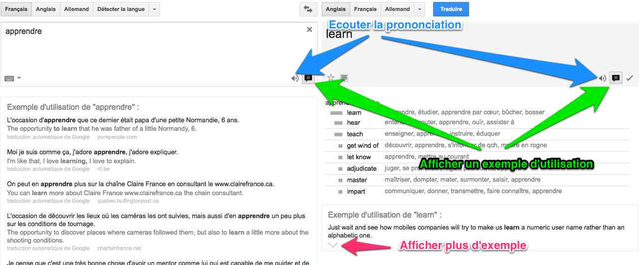 Flirter en anglais traduction