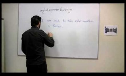 Différence entre USED TO, BE USED TO et GET USED TO – Cours d'anglais