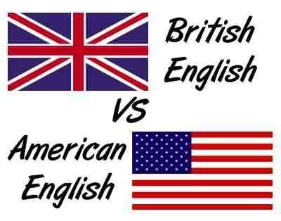 a comparison of the american english and the british english British and american english are, of course, forms of the same language, yet there are marked differences between the two.