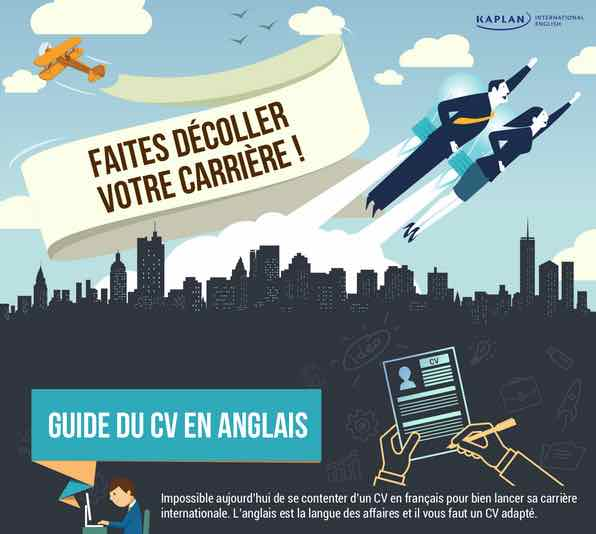 Infographie du Guide du CV anglais par Kaplan International