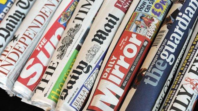 Les journaux anglais britannique et américains les plus connus.